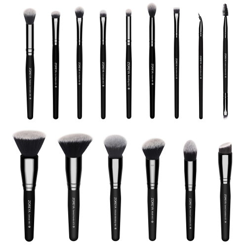 Zoreya 15pcs makeup brush set